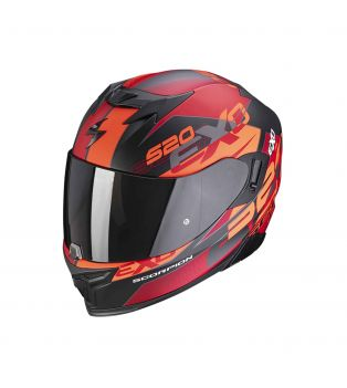 Exo-520 Air Full Face helmet Cover Matt Black/Red