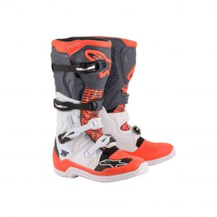 Tech 5 Boots White/Gray/Red Fluo