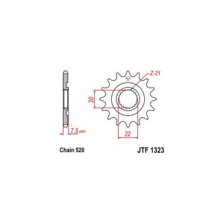 JTF1323 Front Sprocket 520 Pitch - 13 Teeth