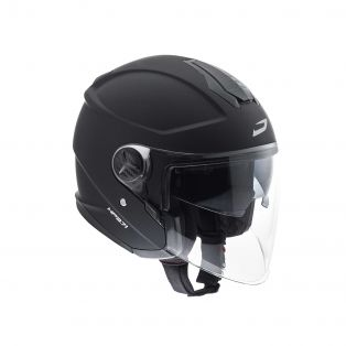 HP3.71 open face helmet Matt Black