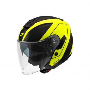 HP3.81 jet helmet with graphics Druid Black/Fluo Yellow