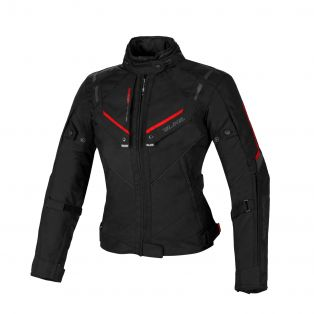 Overtrack women's motorcycle jacket Black/Black/Red