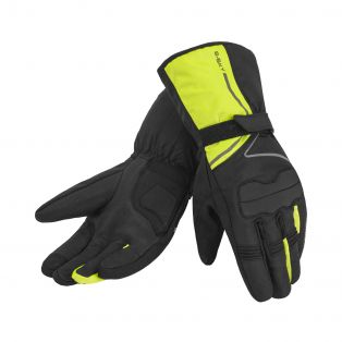 Starsky WP motorcycle gloves Black/Fluo Yellow