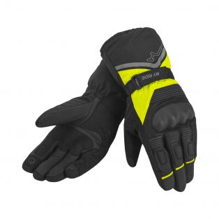 Hutch WP motorcycle gloves Black/Fluo Yellow