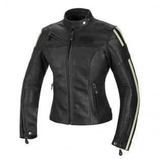 Cult Lady leather motorcycle jacket for women Black/Ice