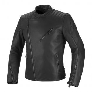 Strand leather motercycle jacket Black