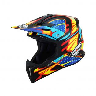 X-Wing offroad helmet Duel Light blue/Red
