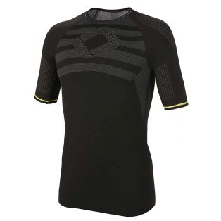 4 Season Short Sleeved T-Shirt Black/Yellow Fluo