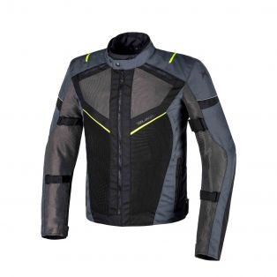 Airtour Aqvadry Motorbike summer jacket Anthracite/Black/Fluo Yellow