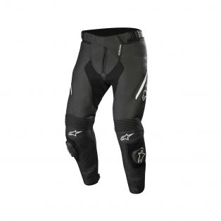 Missile V2 Leather Pants Black/White