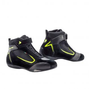 Ventex Air Motorcycle Shoes Black/Yellow Fluo