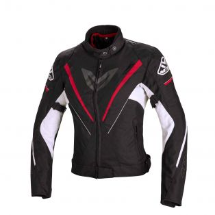 Motorcycle Jacket Fuel Tex Black/Red/White