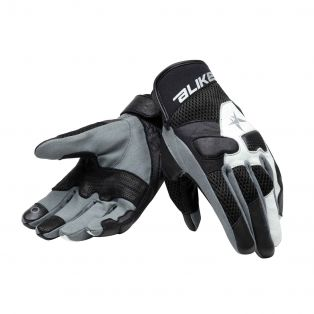 Roke motorcycle gloves Black/White