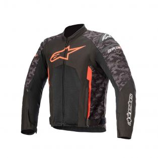 T-GP Plus R Air V3 Jacket Balck/Camo/Fluo Red