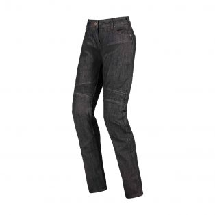 Track Motorcycle Trousers for Ladies Black Washed
