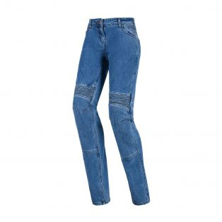 Steel Motorcycle trousers for ladies Light blue Washed