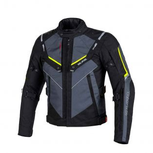 Overtrack motorcycle jacket Black/Anthra/Fluo Yellow