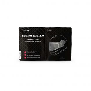 Pinlock Visor Clear cleaning cloths